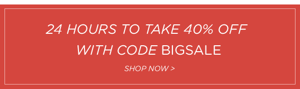Use code BIGSALE for 40% off